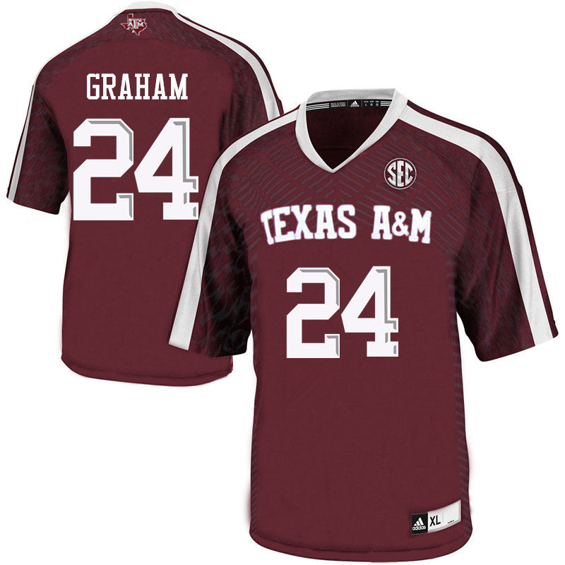 Men #24 Jake Graham Texas A&M Aggies College Football Jerseys-Maroon