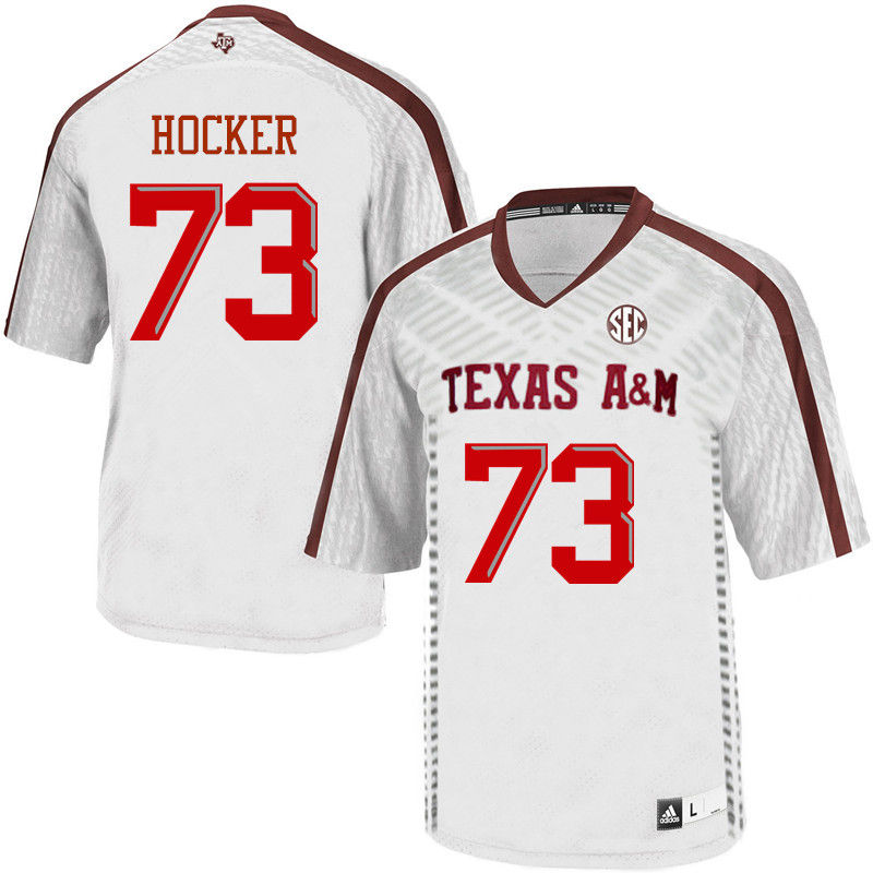 Men #73 Jared Hocker Texas A&M Aggies College Football Jerseys-White