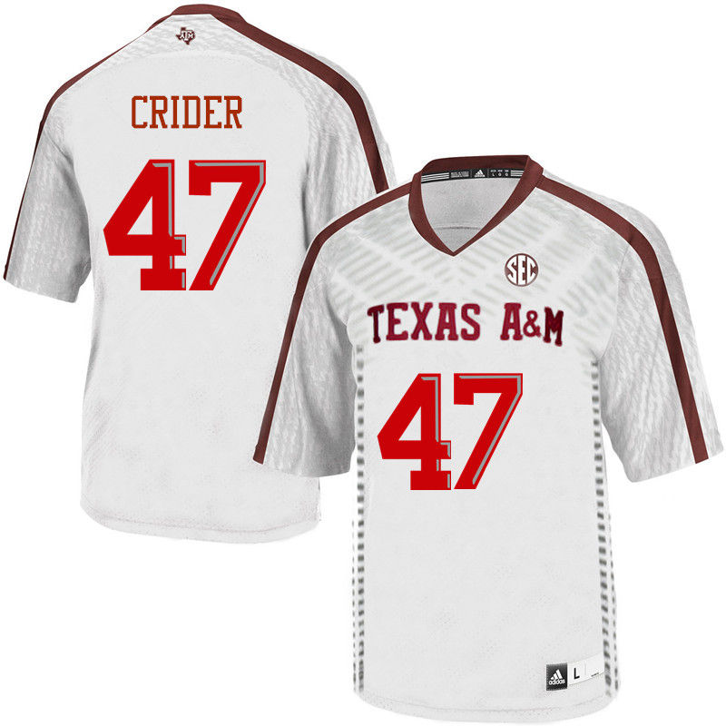 Men #47 Jett Crider Texas A&M Aggies College Football Jerseys-White