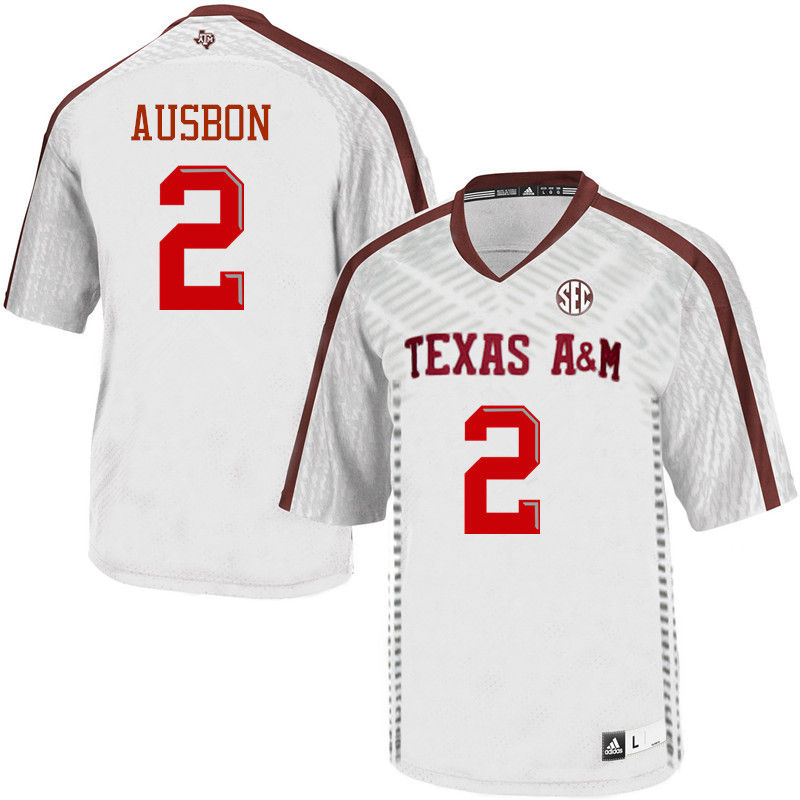 Men #2 Jhamon Ausbon Texas A&M Aggies College Football Jerseys-White
