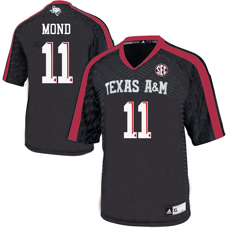 Men #11 Kellen Mond Texas A&M Aggies College Football Jerseys-Black