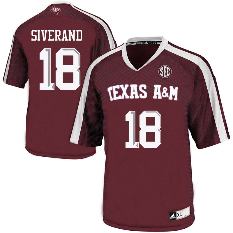 Men #18 Kemah Siverand Texas A&M Aggies College Football Jerseys-Maroon