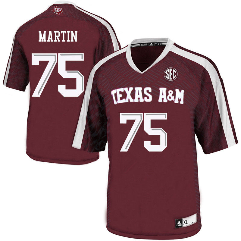 Men #75 Koda Martin Texas A&M Aggies College Football Jerseys-Maroon