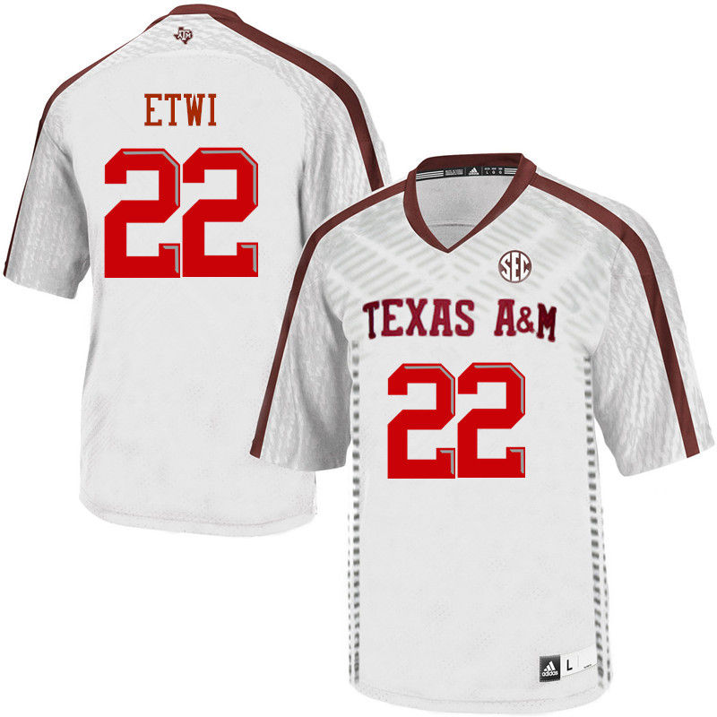Men #22 Kwame Etwi Texas A&M Aggies College Football Jerseys-White