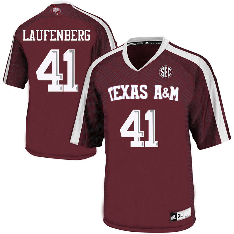 Men #41 Luke Laufenberg Texas A&M Aggies College Football Jerseys-Maroon