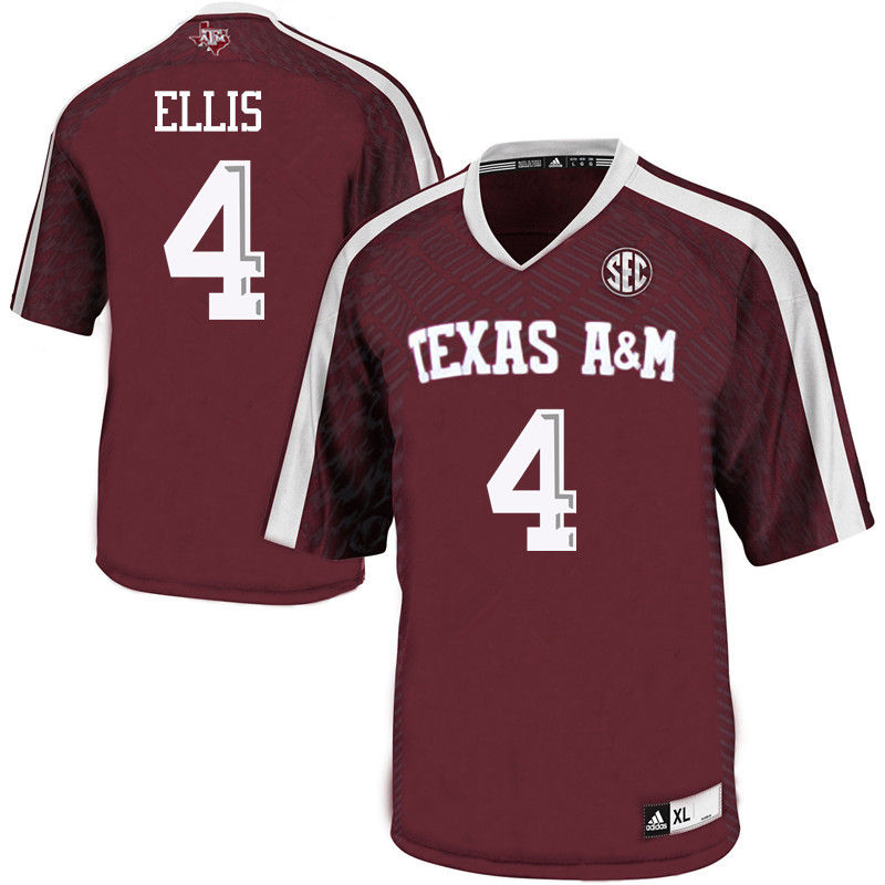 Men #4 Noel Ellis Texas A&M Aggies College Football Jerseys-Maroon
