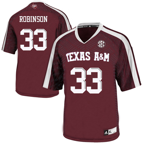Men #33 Ondario Robinson Texas A&M Aggies College Football Jerseys Sale-Maroon
