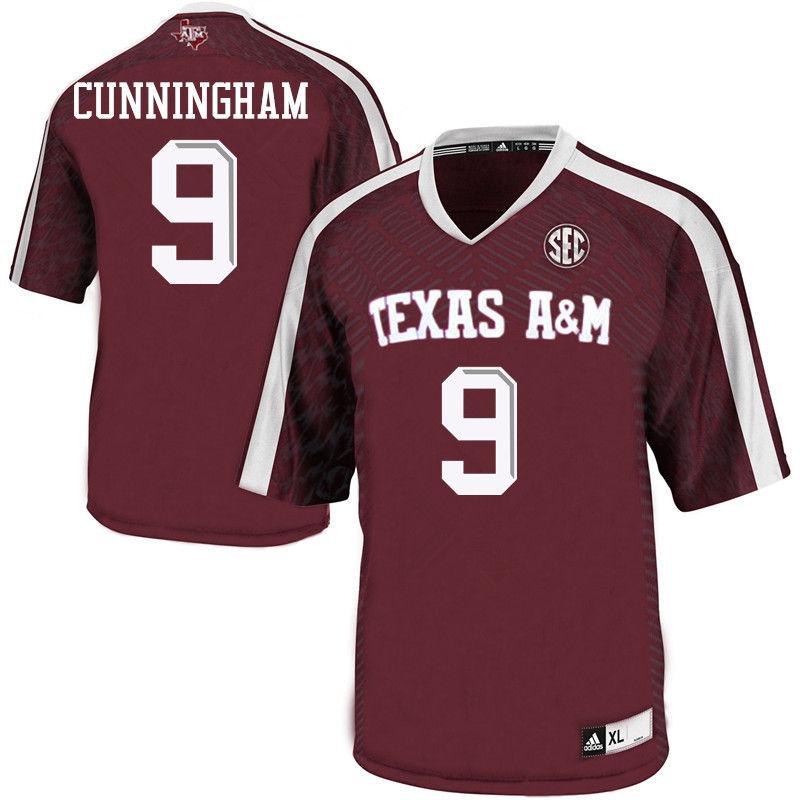 Men #9 Qualen Cunningham Texas A&M Aggies College Football Jerseys-Maroon