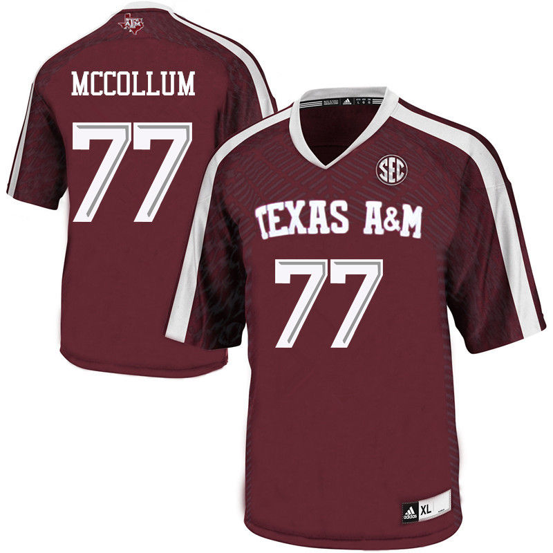 Men #77 Ryan McCollum Texas A&M Aggies College Football Jerseys-Maroon