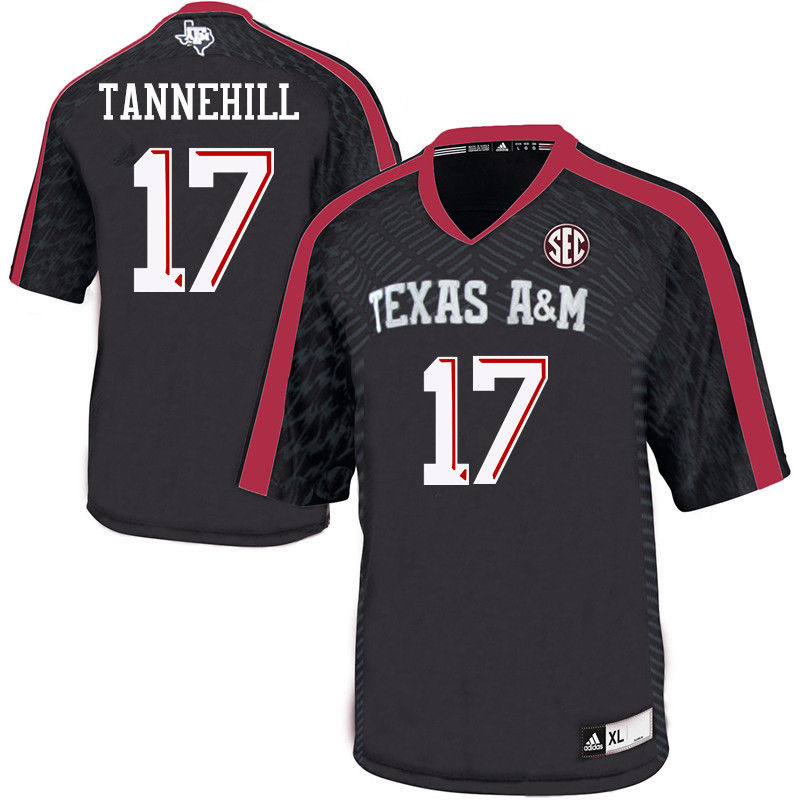 Men #17 Ryan Tannehill Texas A&M Aggies College Football Jerseys-Black