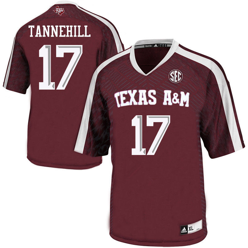 Men #17 Ryan Tannehill Texas A&M Aggies College Football Jerseys-Maroon