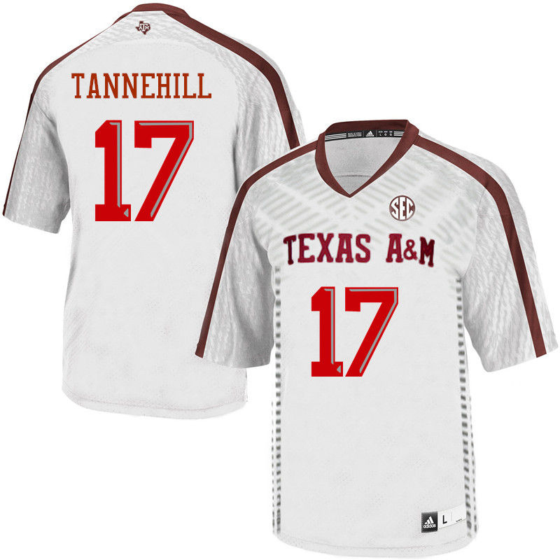 Men #17 Ryan Tannehill Texas A&M Aggies College Football Jerseys-White