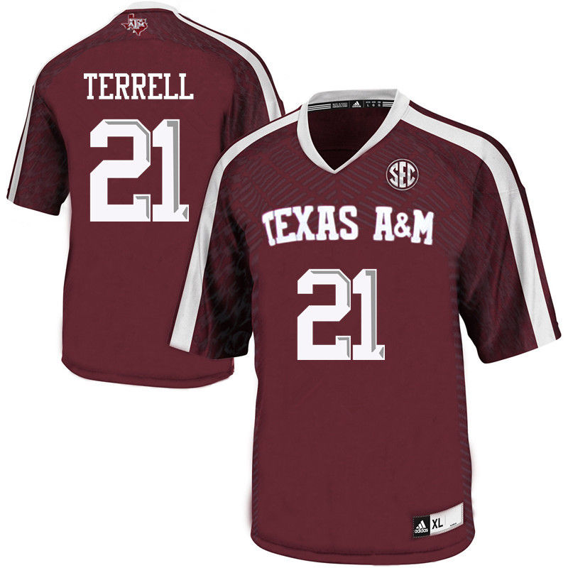 Men #21 Steven Terrell Texas A&M Aggies College Football Jerseys-Maroon