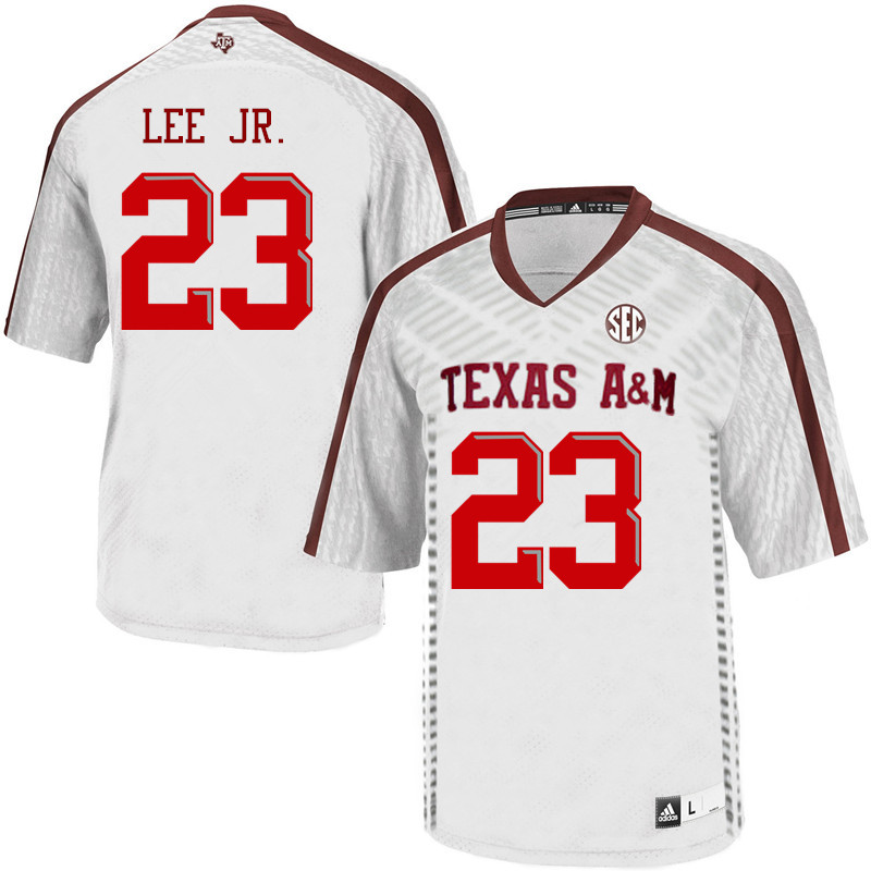 Men #23 Tarian Lee Jr. Texas A&M Aggies College Football Jerseys Sale-White