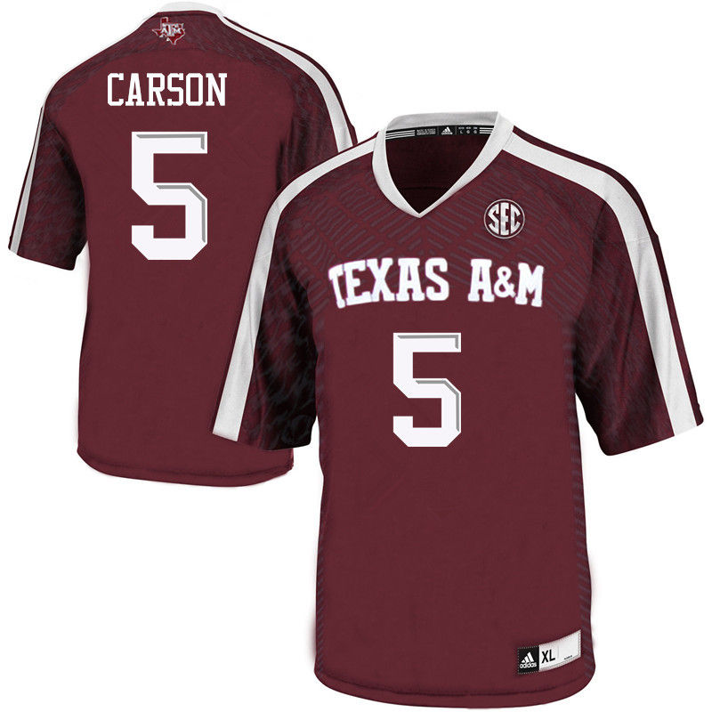 Men #5 Tra Carson Texas A&M Aggies College Football Jerseys-Maroon