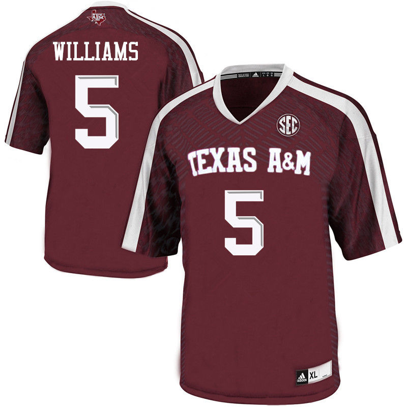 Men #5 Trayveon Williams Texas A&M Aggies College Football Jerseys-Maroon