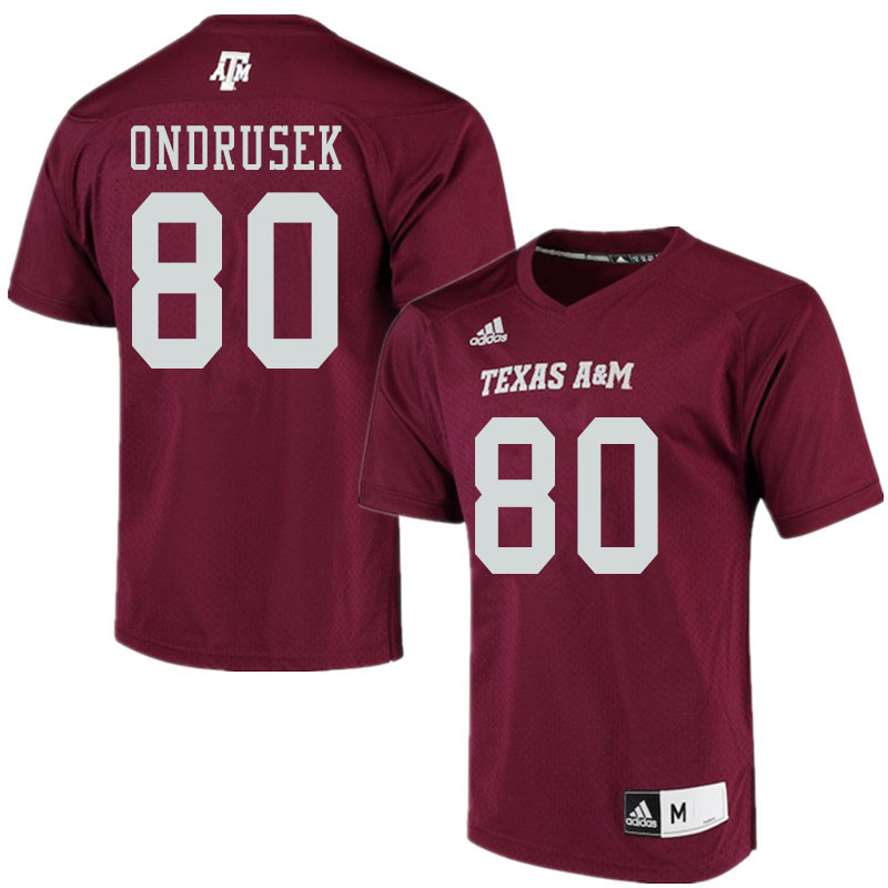 Men #80 Tyler Ondrusek Texas A&M Aggies College Football Jerseys Sale-Maroon Alumni Player